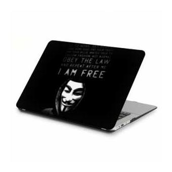 coque rigide macbook pro ecran retina 13 pouces anonymous i am free n achat prix fnac. Black Bedroom Furniture Sets. Home Design Ideas