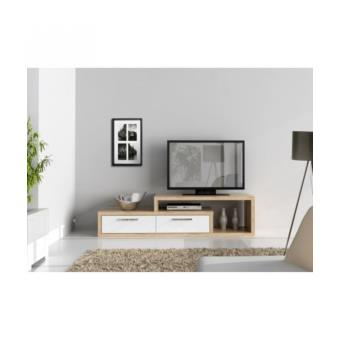 shine meuble tv 170 cm blanc chene achat prix fnac. Black Bedroom Furniture Sets. Home Design Ideas