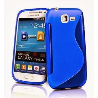 mp Housse etui coque silicone gel pour Samsung Galaxy Trend Lite s film ecran BLEU w