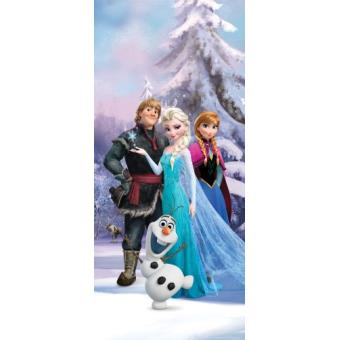 la reine des neiges papier peint photo poster personnages anna elsa olaf kristoff 202x90. Black Bedroom Furniture Sets. Home Design Ideas