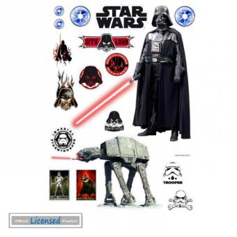 Star wars sticker adh sif mural autocollant empire for Autocollant mural star wars