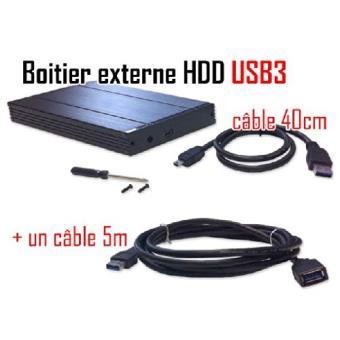 Cabling pack boitier externe pour disque dur sata 2 5 - Rallonge usb 5m ...