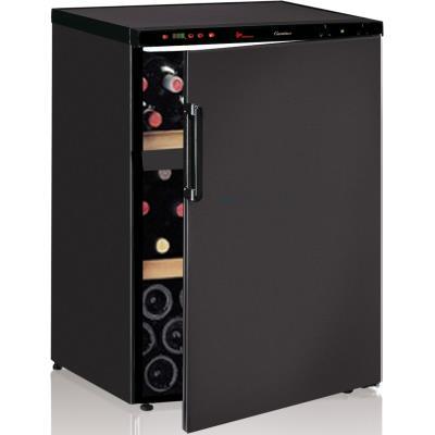 Cave à vin de service - 2 temp. - 64 bouteilles - Noir - CALICE - ACI-CAL101 - Pose libre