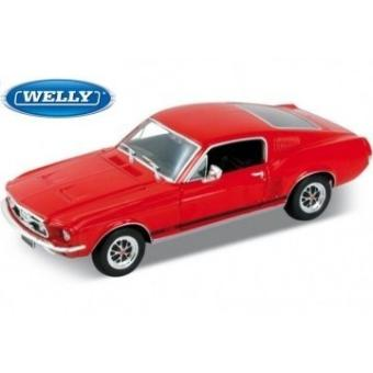 ford mustang gt 1967 rouge 1 24 welly achat prix fnac. Black Bedroom Furniture Sets. Home Design Ideas