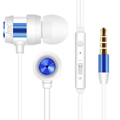 Ecouteurs antibruit avec microphone pour les téléphones intelligents Bleu