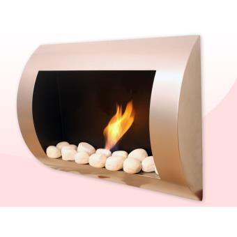 chemin e bio thanol murale purline inox clasic achat prix fnac. Black Bedroom Furniture Sets. Home Design Ideas