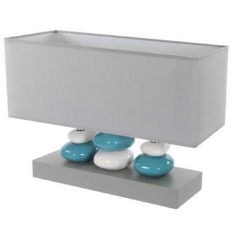 lampe 3 piliers galets bleu et gris luminaire d 39 int rieur poser achat prix fnac. Black Bedroom Furniture Sets. Home Design Ideas