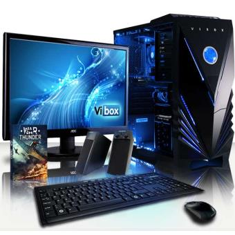 vibox precision paquet 1 ordinateur de bureau gamer gaming pc avec ecran 4 0ghz amd a4 dual