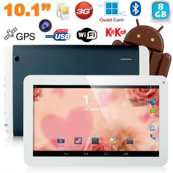 mp Tablette tactile  pouces G Double SIM Quad Core WiFi GPS Go Bleu w