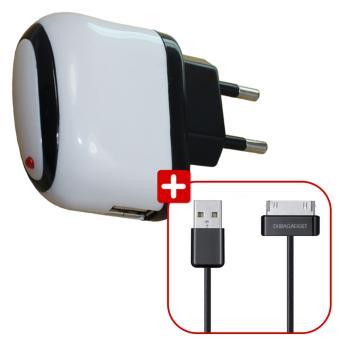 duragadget chargeur usb 2 amp c ble pour tablettes. Black Bedroom Furniture Sets. Home Design Ideas