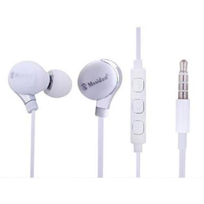 Ecouteurs de style classique avec réglage de volume et micro pour smartphones Blanc