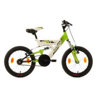vtt enfant tout suspendu 16pouces zodiac vert tc 30 cm ks cycling achat prix fnac. Black Bedroom Furniture Sets. Home Design Ideas