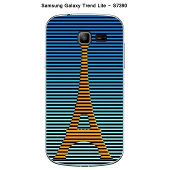 Coque samsung galaxy trend lite s7390 design paris tour jaune ray e fond bleu ray noir achat - Prix du samsung galaxy trend lite ...