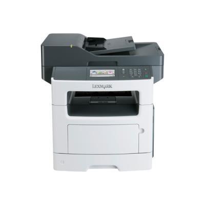 La Lexmark MX511dhe avec fonctions d´impression, de copie, de télécopie, de numérisation et d´email imprime offre d´origine l´impression recto verso et une alimentation standard.