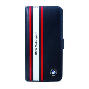 Housse cuir bleu bmw motorsport pour iphone 4 4s achat for Housse iphone 4 cuir