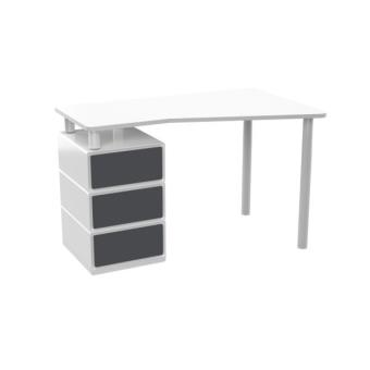 a classer sms easyburo bureau gris 3 tiroirs standard achat prix fnac. Black Bedroom Furniture Sets. Home Design Ideas