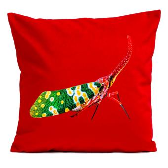 housse de coussin insectes artpilo rouge 60x60 cm achat prix fnac. Black Bedroom Furniture Sets. Home Design Ideas