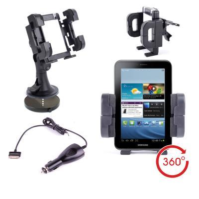 mp Support Voiture  en DURAGADGET pour Samsung Galaxy Tab P chargeur w