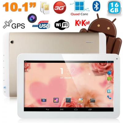 mp Tablette tactile  pouces G Double SIM Quad Core WiFi GPS Go Or w
