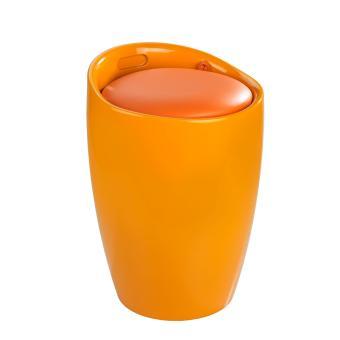 tabouret de salle de bain candy orange orange achat prix fnac. Black Bedroom Furniture Sets. Home Design Ideas