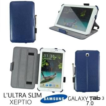 housse cuir style luxe ultra slim tablette samsung galaxy tab 3 7 0 xeptio authentique samsung