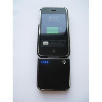 batterie de secours iphone 4 4s 3g 3gs 1900 ma noire. Black Bedroom Furniture Sets. Home Design Ideas