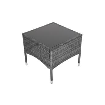 table basse r sine tress e gris meuble jardin mdj01021. Black Bedroom Furniture Sets. Home Design Ideas