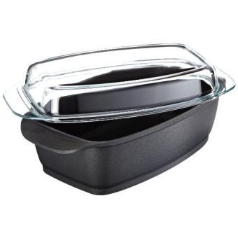 berndes 095964 cocotte en fonte d 39 aluminium avec rev tement anti adh sif et couvercle en verre. Black Bedroom Furniture Sets. Home Design Ideas
