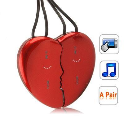 MP3 4Gb Cur détachable Rouge