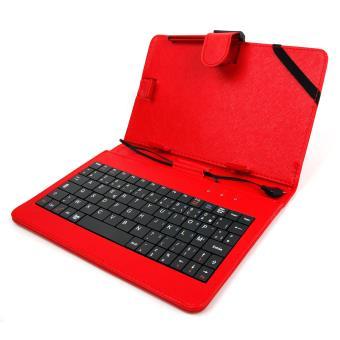 etui rouge clavier fran ais azerty 7 pouces pour. Black Bedroom Furniture Sets. Home Design Ideas