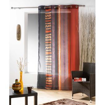 panneau rideau voile 140x240cm oeillet bamako achat prix fnac. Black Bedroom Furniture Sets. Home Design Ideas