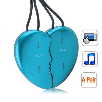 MP3 4Gb Cur détachable Bleu