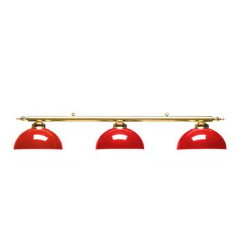 Luminaire canopy laiton 3 globes rouge achat prix fnac for Luminaire rouge