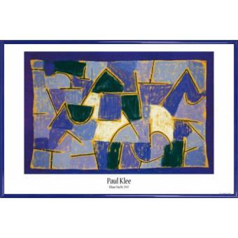 poster encadr paul klee nuit bleue 1937 61x91 cm cadre plastique bleu acheter sur. Black Bedroom Furniture Sets. Home Design Ideas