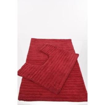 Tapis de salle de bain contour wc rouge achat prix fnac - Tapis de salle de bain rouge ...