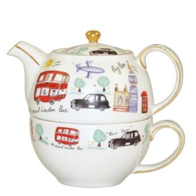 Image du produit CHURCHILL CHINA JAMES SADLER THÉIÈRE ET TASSE LONDRES COFFRET CADEAU