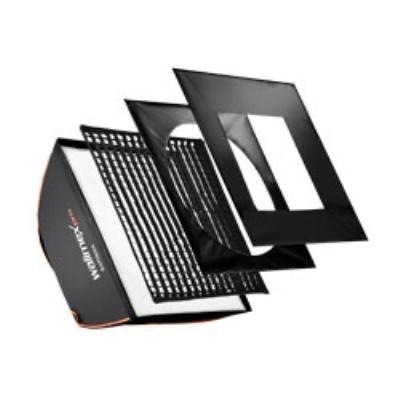 Walimex pro Softbox PLUS Orange Line 75x150. Poids: 2.4 kg, Longueur du produit: 500 mm, Largeur: 750 mm. Couleur: Noir, Blanc Caractéristiques : - Poids : 2.4 kg - Longueur du produit : 500 mm - Largeur : 750 mm - Hauteur : 1500 mm - Matériel : Aluminium