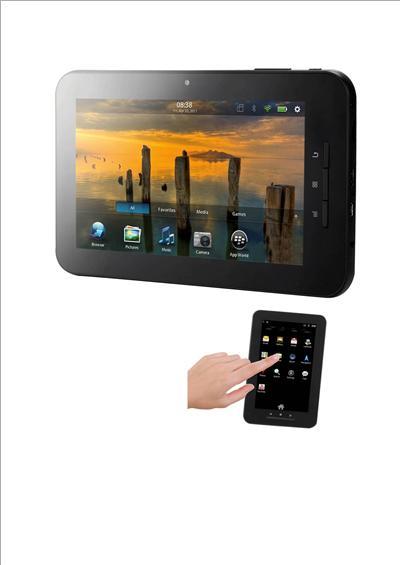 Super slim avec écran capacitif, Mémoire interne 4Go + slot de carte micro SD jusquà 16 Go, système dexploitation ANDROID 4.0, processeur cadencé à 1.2GHZ, connectivité WIFI /3G avec clef USB ext 3G (non fournie). Fonction G-SENSOR port mini HDMI, Webcam