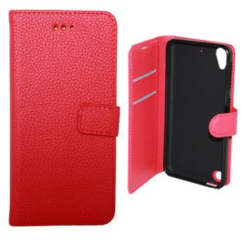 etui housse coque portefeuille htc desire 530 rouge. Black Bedroom Furniture Sets. Home Design Ideas