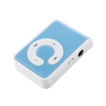 mini baladeur clip mp3 ecouteurs bleu achat prix. Black Bedroom Furniture Sets. Home Design Ideas
