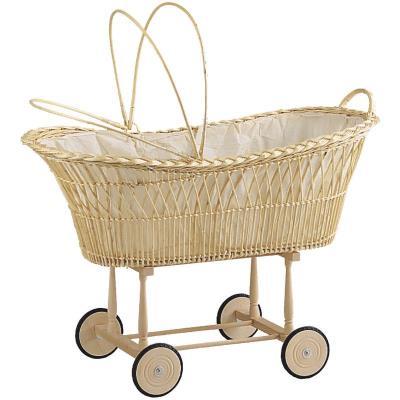 Berceau en osier blanc pour enfants 100% coton, Dim : L100 cm -PEGANE- pour 476€