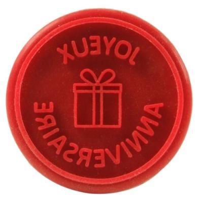 Image du produit yoko design 1183 tampon à biscuitsemporte-pièce boissilicone rouge 9,5 cm