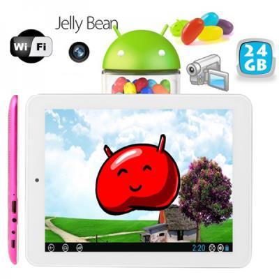 Sur cette tablette tactile android, retrouvez le système Google Android Jelly Bean 4.2 associé à un écran tactile capacitif multi touch et une mémoire interne de 8 Go. Avec son design ultra fin (0.9 mm) et léger (400 gr), cette tablette android 8 pouces h