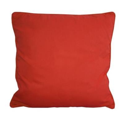 Coussin Carré Déhoussable 100% Coton Sergé De Coloris Rouge. Garnissage : 100% Polyester. Style : Classique. Finition Passepoil. Facile D´Entretien. Lavage En Machine A 30°C. Repassage A 2 Points. Grammage : 200 Gr/M². Dimensions : 60X60X10 Cm.