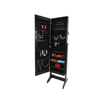 Armoire bijoux avec miroir int gr armoire noire 41 5 x 37 x 146 cm ach - Armoire a bijoux avec miroir ...