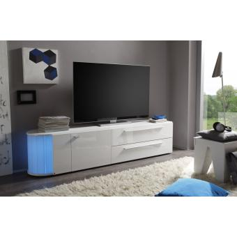 meuble tv doto b1 laqu blanc achat prix fnac. Black Bedroom Furniture Sets. Home Design Ideas