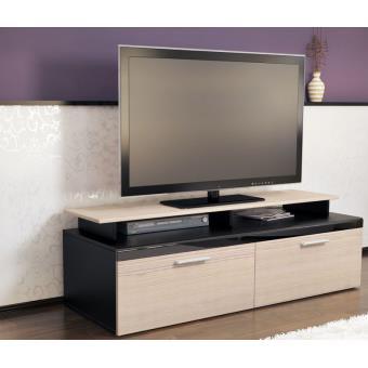 meuble tv noir champagne 140 cm achat prix fnac. Black Bedroom Furniture Sets. Home Design Ideas