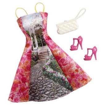 barbie habit robe avec dessin poup e et mini poup e. Black Bedroom Furniture Sets. Home Design Ideas