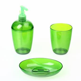 Set de 3 accessoires pour salle de bain so city for Accessoire de salle de bain vert