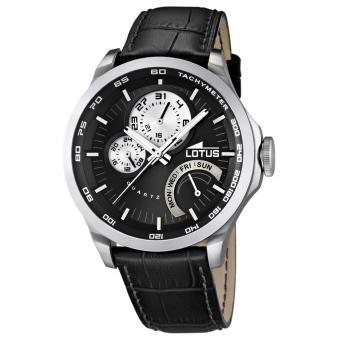 montre lotus l15846 4 montre cuir noire acier homme achat prix fnac. Black Bedroom Furniture Sets. Home Design Ideas